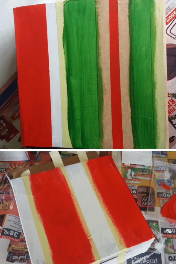 Gift box painting