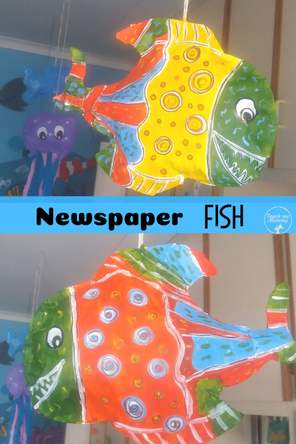 Newspaper Fish pin