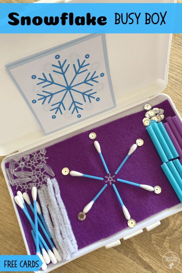 Snowflake box pin