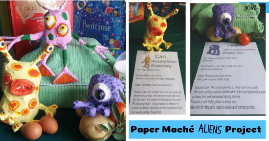 Paper Maché Aliens Project fb