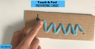 Touch & Feel Prewriting Cards