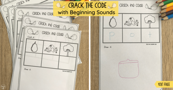 Crack the Code Beginning Sounds