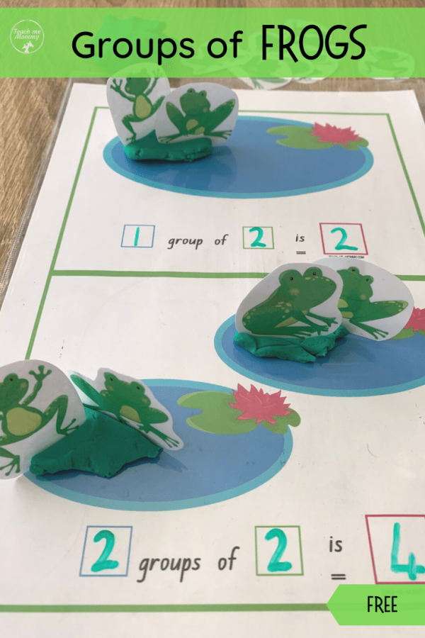 Groups of frogs pin