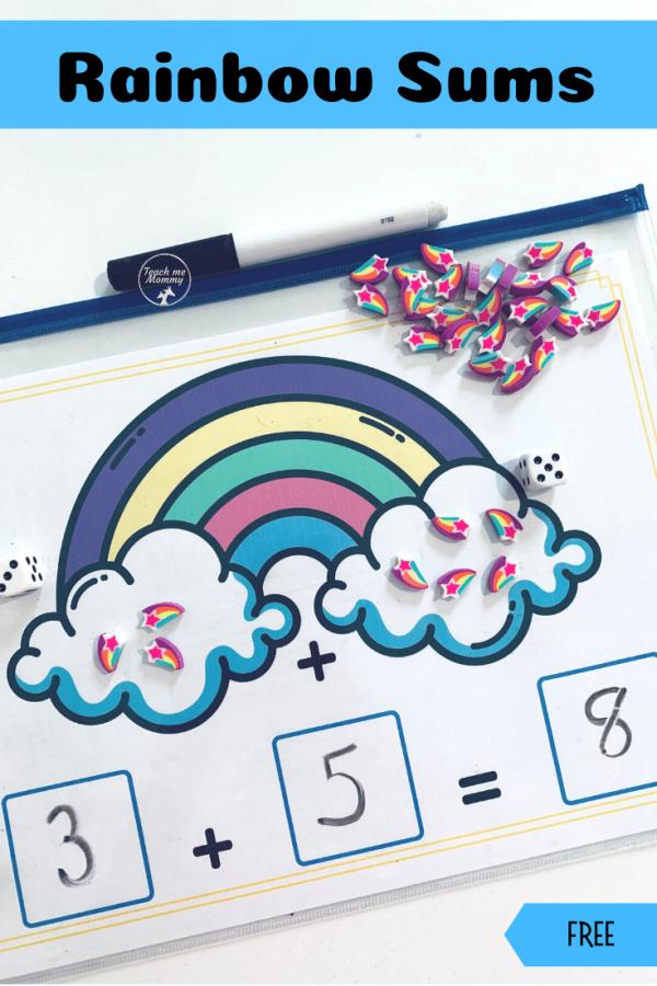 Rainbow sums pin