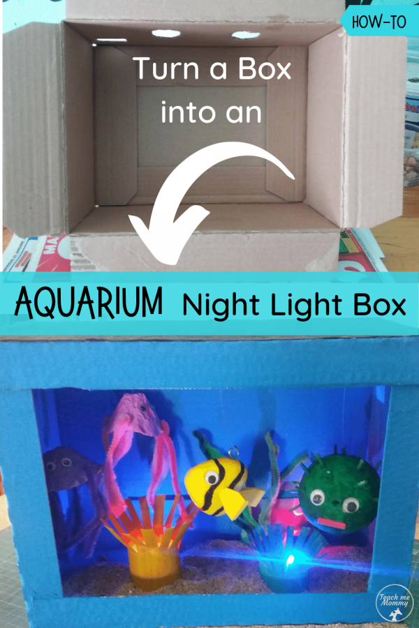 Aquarium night light box pin