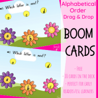 Alphabetical Order Flowers FREEBIE