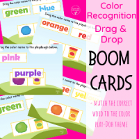 Playdough Color Recognition Freebie