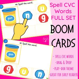 Playdough words Boom deck