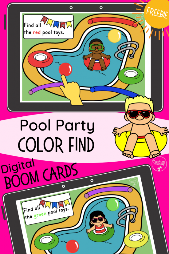 Boom Pool Color Find PIN