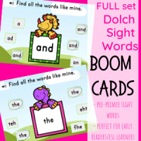 PRE-PRIMER Sight Words(Dinos)