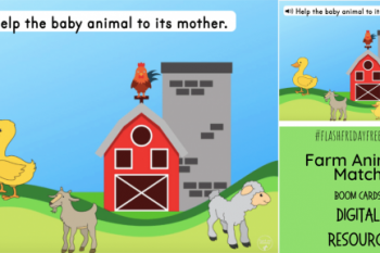 Farm Animal Match Digital Resource