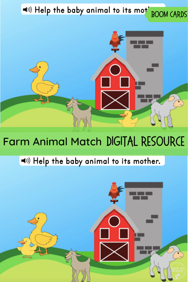 Farm animals boom pin