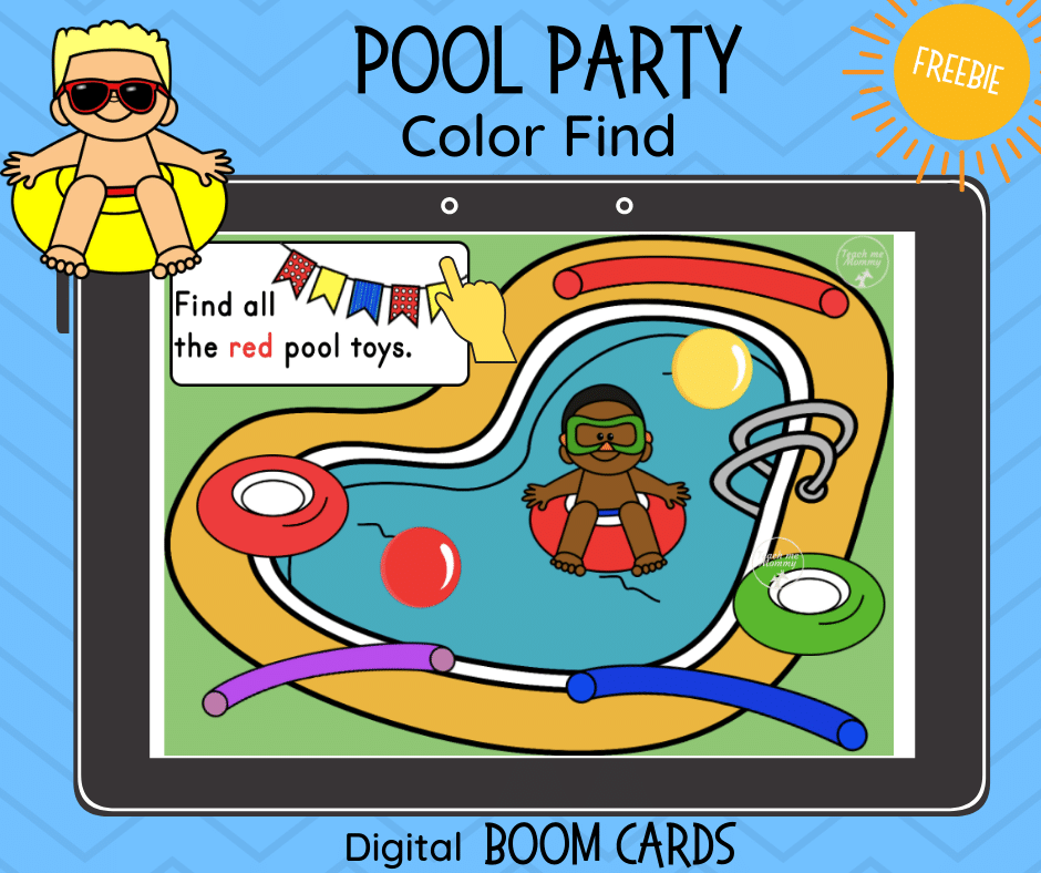 Pool Party Color Find Digital