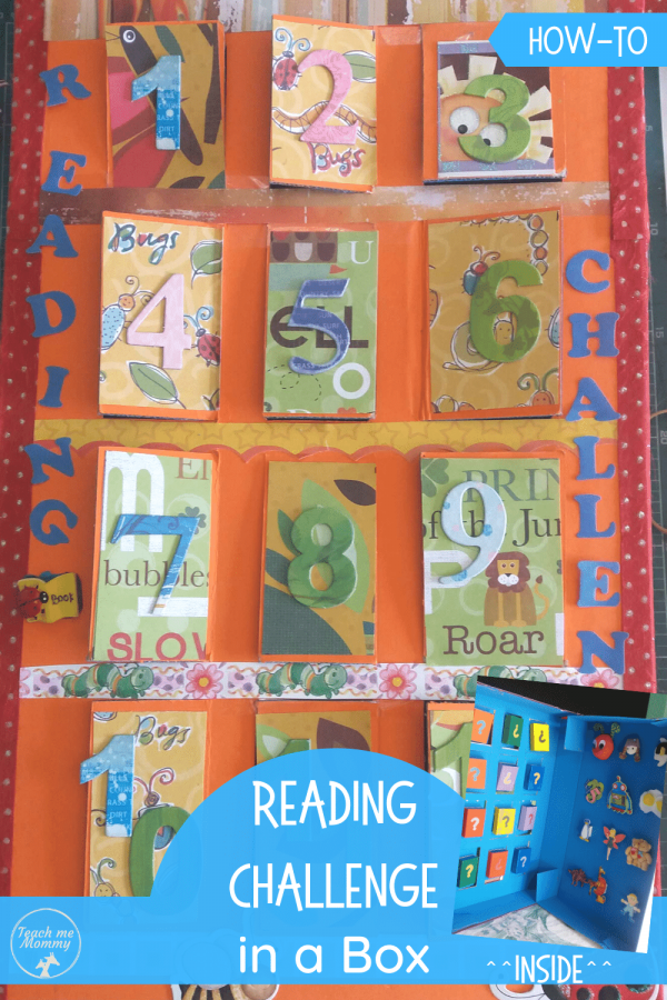 Reading Challenge in a Box pin