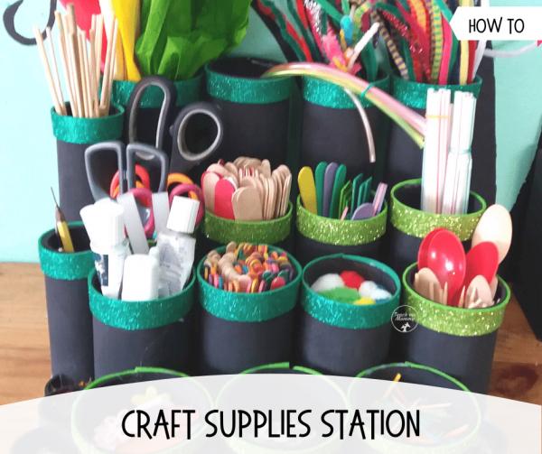 Craft supplies station organizer fb