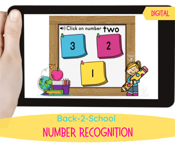 Number recognition Boom cards