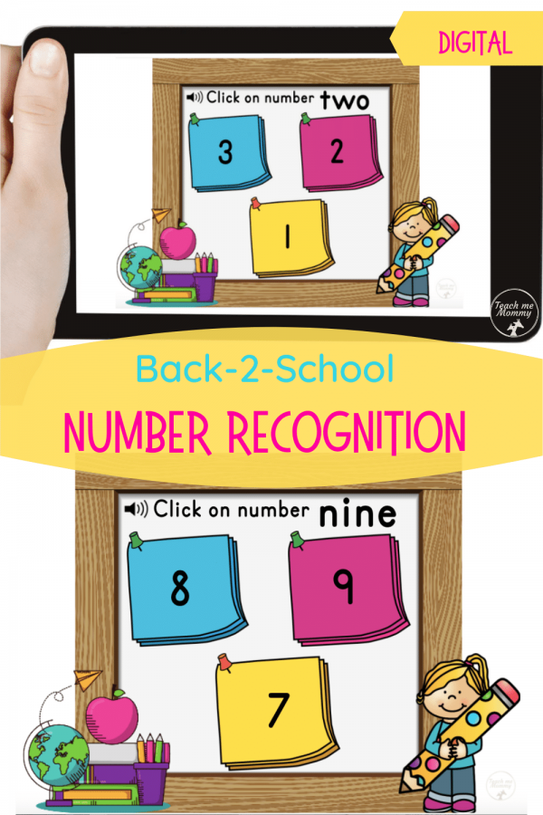 Number recognition digital resource pin