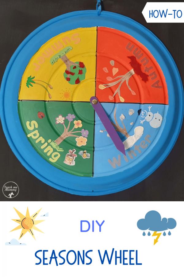 Seasons wheel craft pin