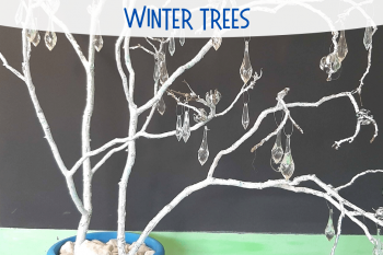 DIY Winter Trees Project