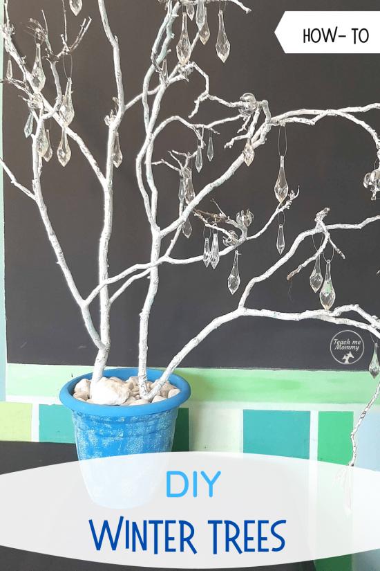 Winter trees kids project