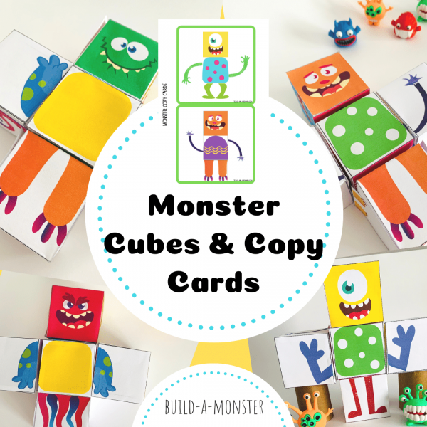 Monster cubes and cards