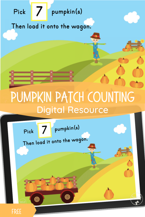 Pumpkin Patch counting digital resource activity