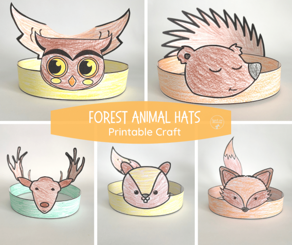 Forest animals hats fb