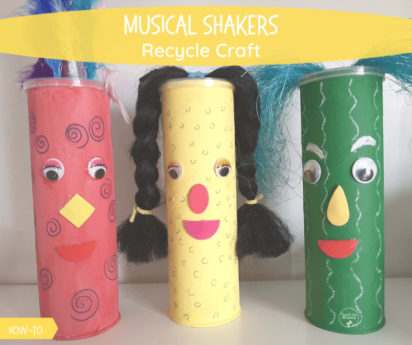 Musical shakers recycle craft