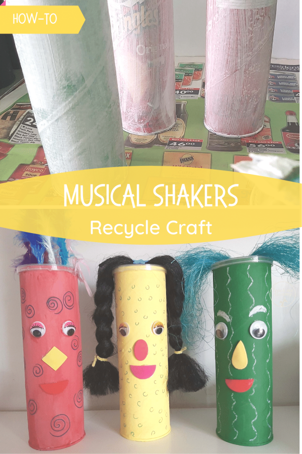Musical shakers recycle craft pin