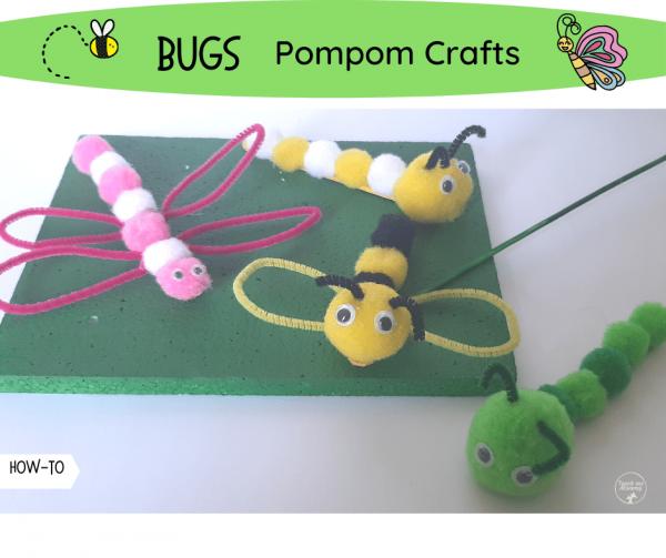 Pompom bug crafts