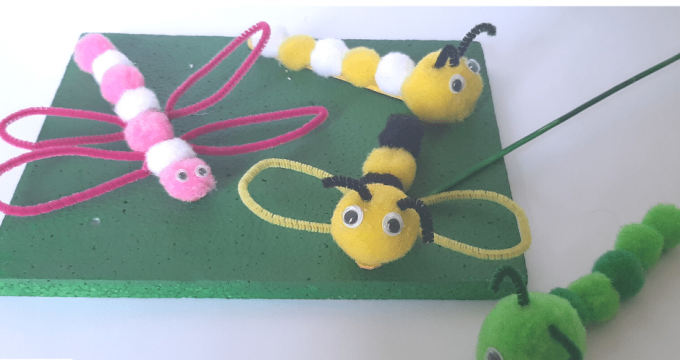 Bugs Pompom Crafts