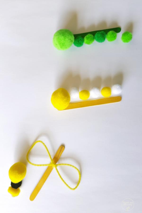 Bug pompom crafts