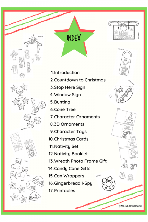 Christmas color-in projects
