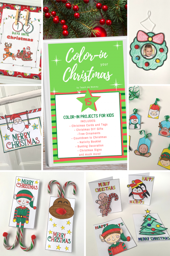 Color-in your Christmas projects