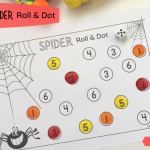 Spider numbers activity roll fb