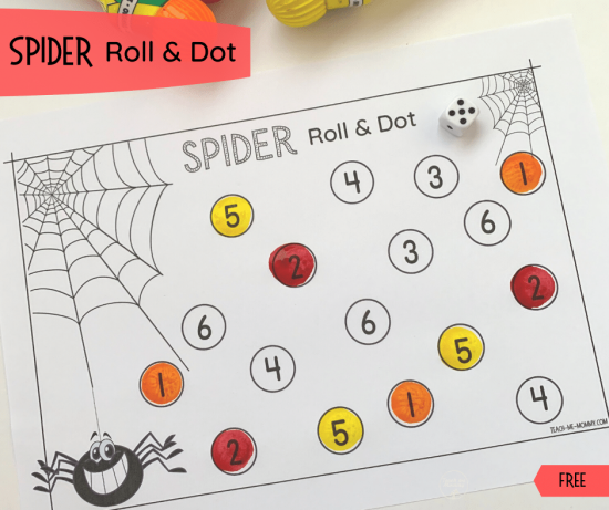 Spider Roll & Dot Numbers