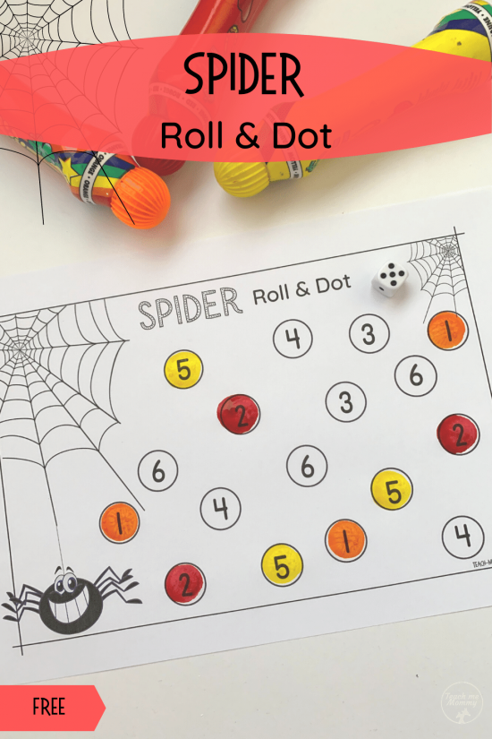 Spider roll and dot activity pin