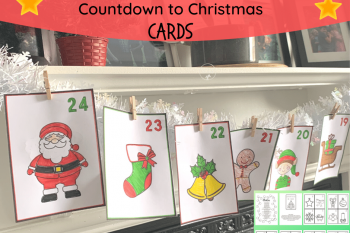 Color-in Countdown to Christmas Cards