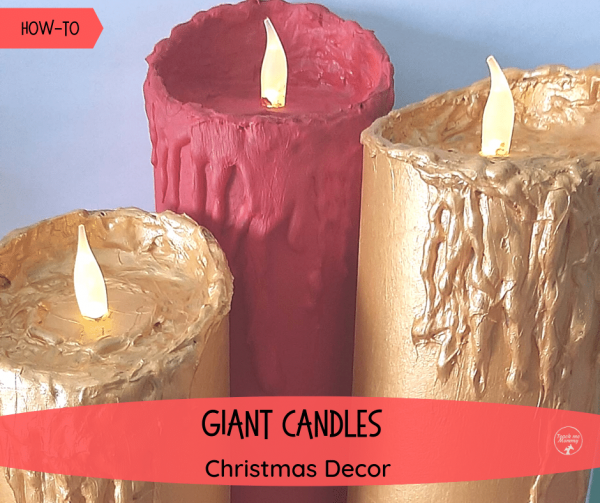 Giant Candles Christmas Decor fb
