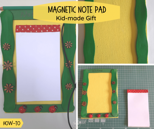 Kid-made Note pad gift fb