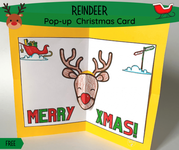 Reindeer Pop-up Card fb