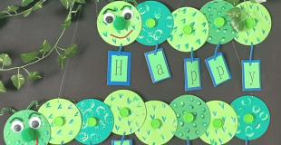Recycled Caterpillar Banner
