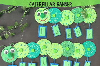 Recycled Caterpillar Banner