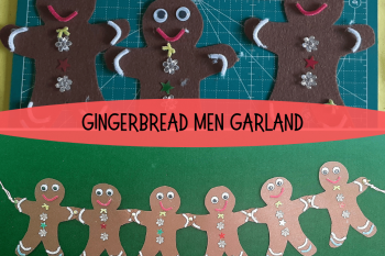 Felt Gingerbread Men Garland