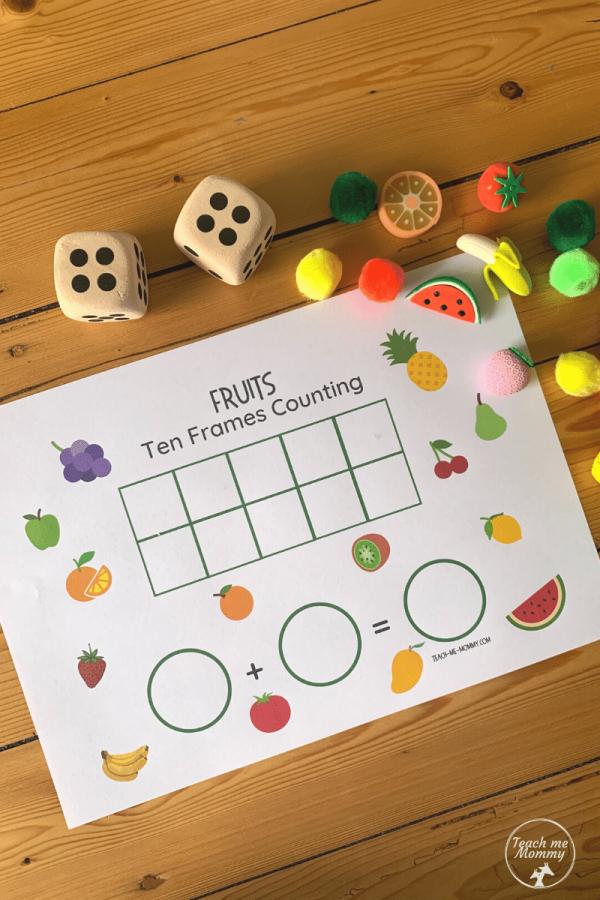 Fruit Ten frames setup