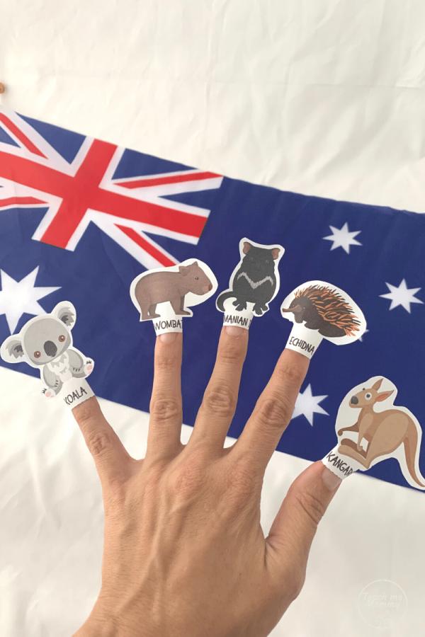 Australian Animals puppets