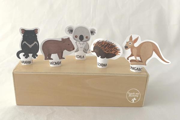 Aus Animals finger puppets