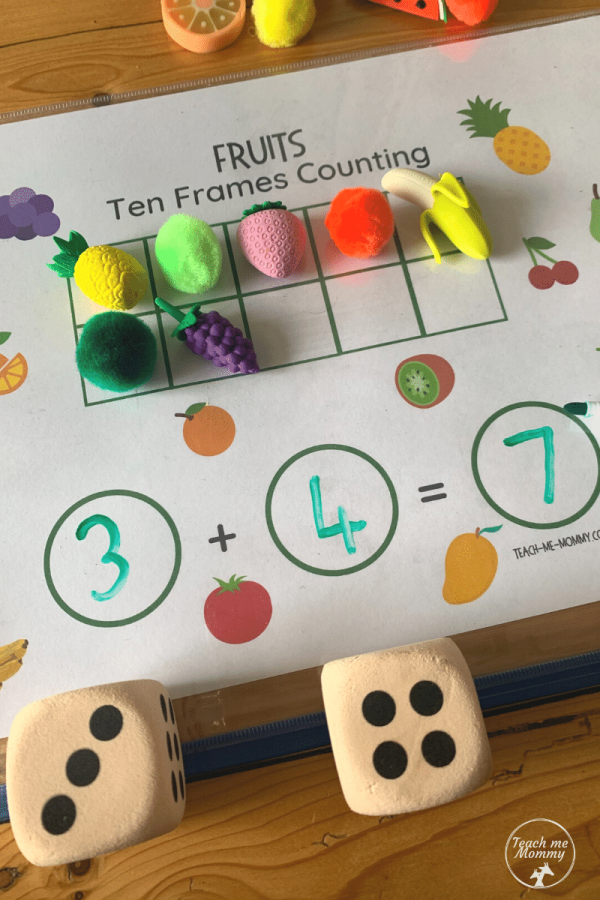Fruit Ten frames counting