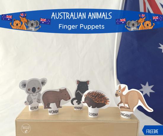 Australialian Animals finger puppets