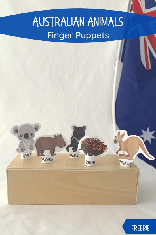 Australian Animals finger puppets